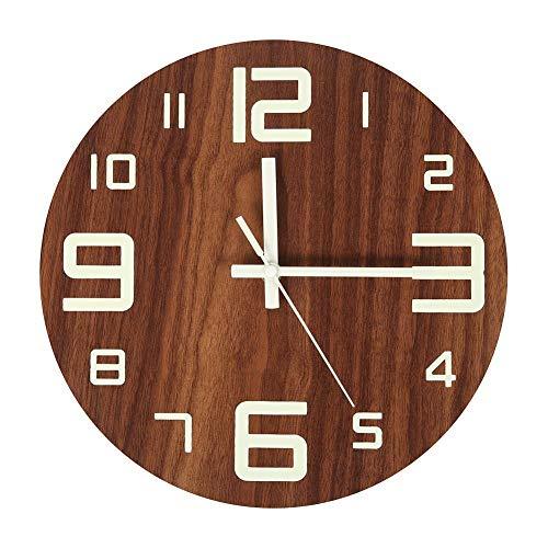 "XMBT Küchenuhr Wanduhren-Runde Quarzwanduhr Blumen Wanduhr Stille Uhr Wanduhr dekoratives Zuhause Wanduhr Silent Non Ticking Clock Digitaler Wecker,Size:32cm,12.60\"""