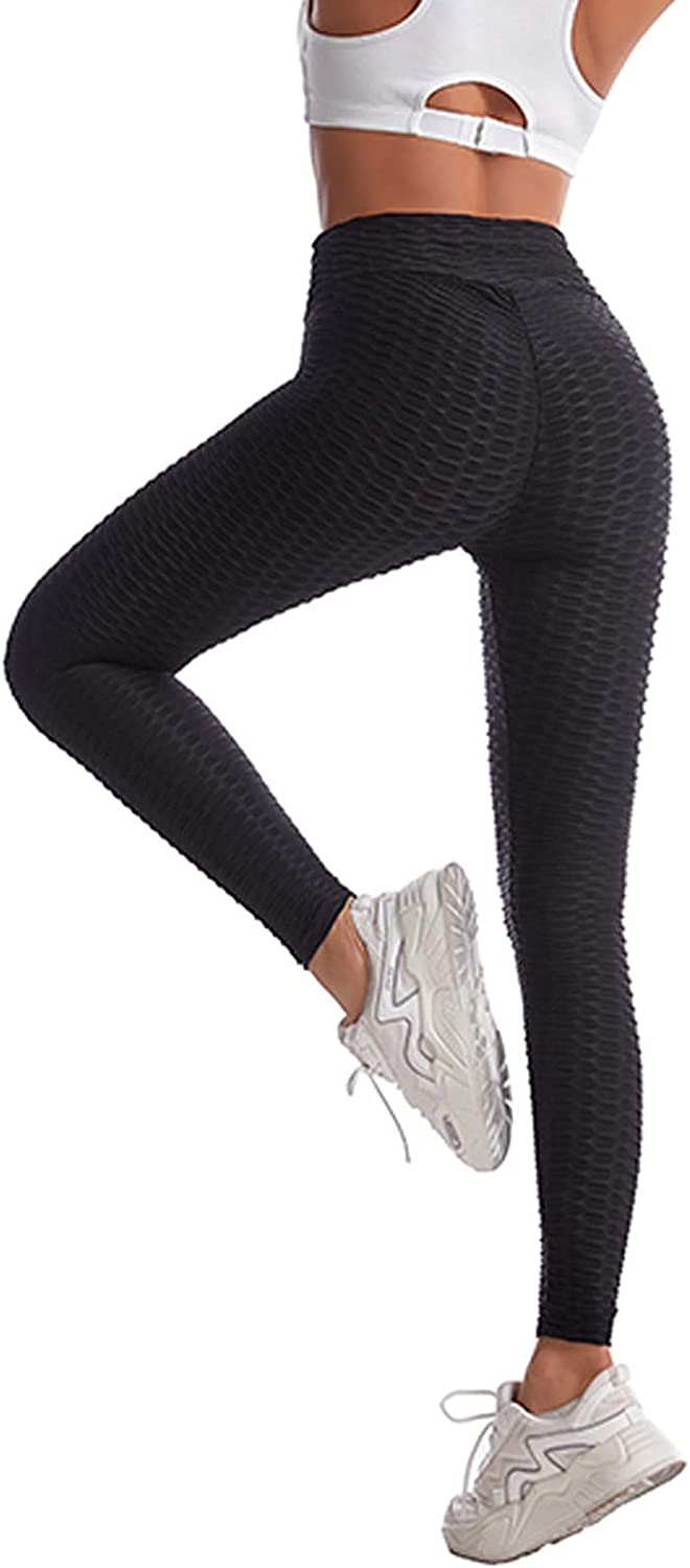 Women's High Waist Yoga Pants Tummy Control Slimming Booty Leggings Workout Running Butt Lift Tights for Sports