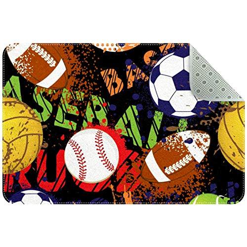 LORVIES Doormat - Balones de béisbol para interior o exterior, diseño de baloncesto