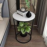 Table Basse Table de Salon Table D'appoint Vintage Side Table, Table basse Maison et sélectionnés Meubles ronde marbre...