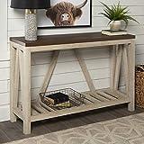 Walker Edison Furniture Modern Farmhouse Accent Entryway Table, 52 Inch - White Oak