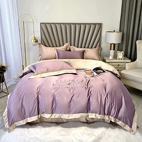 double bedding duvet set-,Bed four sets of summer ice silk embroidered water washing silk quilt-G_200