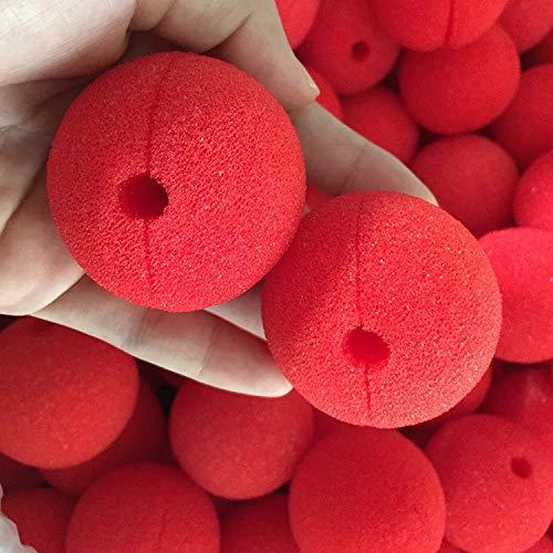 JWGD 50pcs 3 Bola de Esponja roja del Payaso de la Nariz por un Disfraz de Halloween decoracin de Fiesta de la Boda de Navidad mgica Accesorio del Vestido (Color : Mix Color)