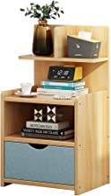 Bedside Table, Storage Box,1 Drawer Designs,More Storage Space,Easy To Install,Length 32.5cm;Width 25.5cm;Height 60cm (Col...