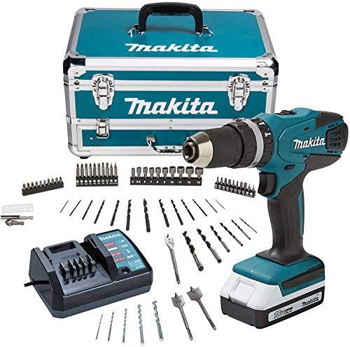 Makita HP457DWX4 Cordless Combi Drill, 18 V