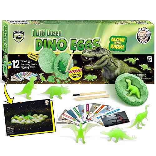 Nachtleuchtender Dinosaurier Ausgrabungsset für Kinder Dino Ei Toy Ausgraben Dino Spielzeug Archäologie Set ab 6 Jahren