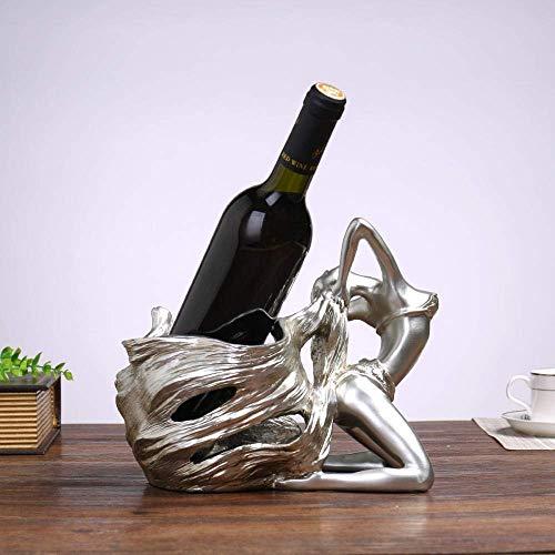 PYROJEWEL Decoraciones del Arte del Arte de la decoración del Estante del Vino Vino Rack de Belleza carácter de botellero Regalo 1
