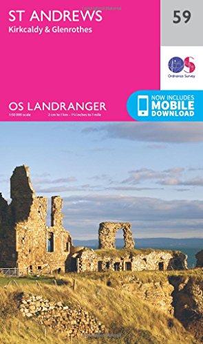 Preisvergleich Produktbild St. Andrews,  Kirkcaldy & Glenrothes 1 : 50 000 (OS Landranger Map,  Band 59)