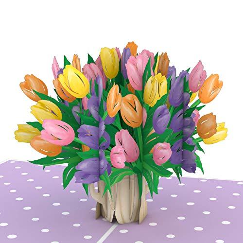 Lovepop Tulip Flowers Pop Up Card - 3D Card, Pop Up Flowers, Mothers Day Card, Card for Mom, 3D Flowers, Happy Mother's Day, Pop Up Mother's Day