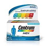 Centrum Men Multivitamin & Mineral Tablets, 24 Essential Nutrients Including Vitamin D, Complete Multivitamin Tablets, 60 Tablets
