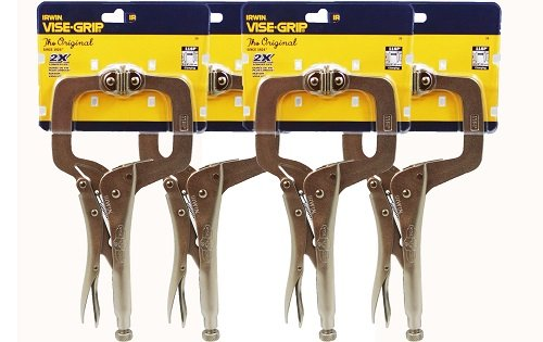 IRWIN Vise-Grip 11SP(20) 11-Inch Locking Clamp with Swivel Pads (4 Pack)