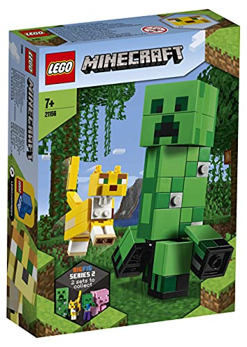 LEGO 21156 Minecraft BigFig Creeper and Ocelot Figures Building Set, Toys for Kids 7+ Years Old