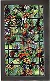FANPING Sin Pegamento de privacidad lámina for ventanas, americano Camellia insolación UV-resistente de cristal de ventana de la película, for el dormitorio Cuarto de baño WC Estudio Inicio Etiqueta d