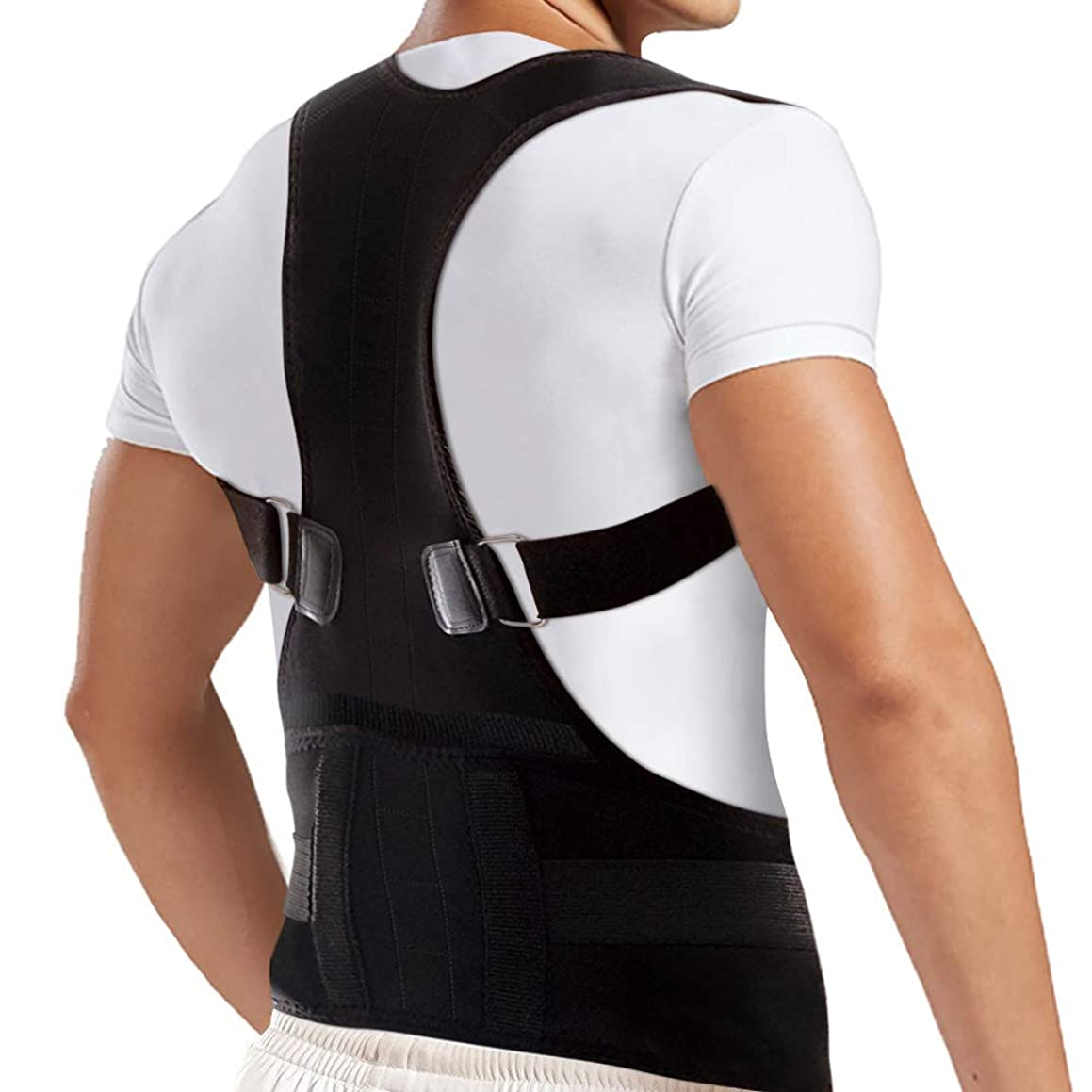 OMID Posture Corrector for Men and Women, Lower and Upper Back Brace for Back Support, Adjustable Back Straightener Helps with Keeping Good Posture, Providing Neck & Shoulder Pain Relief