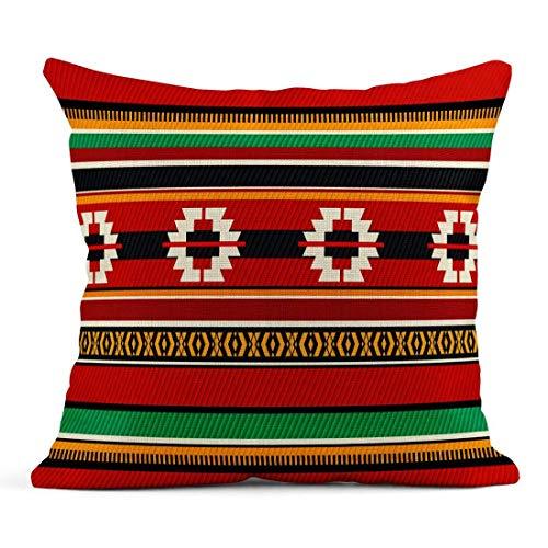 Dekokissen Red Saudi Vintage Traditionelle Sadu Beduinen Weben Zelt Muster Tradition Leinen Kissen Home Dekorative Kissen