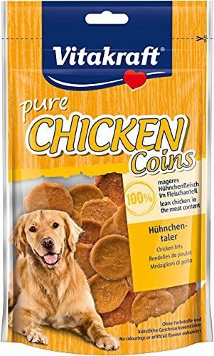 Vitakraft Hundesnack Chicken Hühnchentaler, 1x 80g