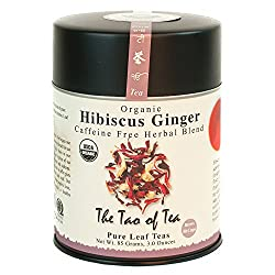 Loose Leaf Ginger Tea Blend with Hibiscus