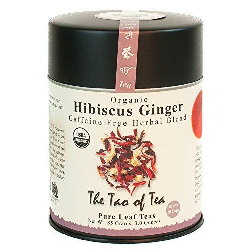 The Tao of Tea, Hibiscus Ginger Tea, Loose Leaf, 3.0 Ounce Tin to make 50 cups