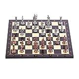 YLJYJ Juego de ajedrez, Juego de Mesa de Metal de Roma de Cobre...