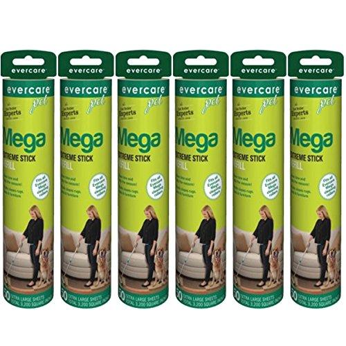 Evercare Pet Mega Roller 50-Layer Refill, 6-Pack