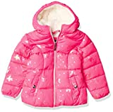 Limited Too Girls' Foil Puffer Jacket, Knockout Pink, 3T