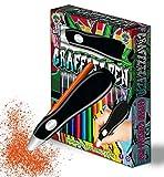 Splat Planet Graffiti - Aerógrafo eléctrico inalámbrico, aerógrafo acuarela, juego de rotuladores aerógrafo de 12 colores, acuarela lavable, pinturas artísticas y artesanía, regalo para los niños