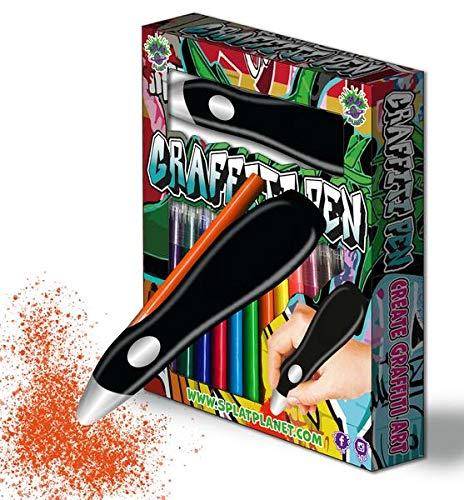 Splat Planet Graffiti - Aerógrafo eléctrico inalámbrico, aerógrafo acuarela, juego de rotuladores...