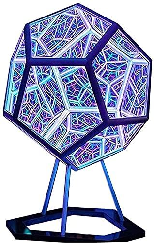 YHQKJ Creativo Fresco Colorido DIRIGIÓ Lámpara de Mesa, Infinito Dodecahedron Color Light for la decoración de la Fiesta, lámparas de atmósfera