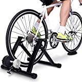 Giveyo Magnetic resistance bike training rack parking rack indoor fitness device with front wheel pad, quick release, suitable for bicycles with wheel diameters of 24i-29inch
