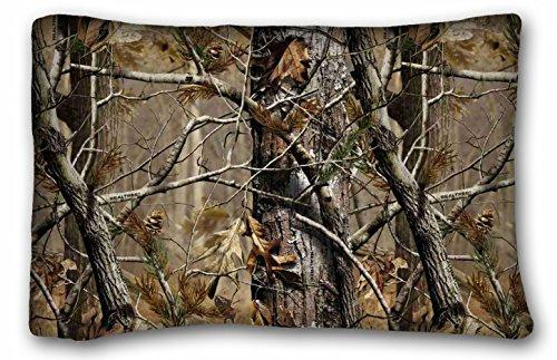 TAROLO Realtree Camuflaje fundas de almohada cubre tamaño estándar tamaño de la funda de almohada 20x 30(una cara impresión