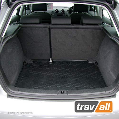 Travall Liner Tappetini per Bagagliaio Compatibili con Audi A3 Sportback (2004-2012) TBM1034 - Vasca Baule in Gomma Originale