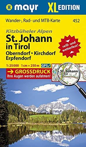 Kitzbüheler Alpen, St. Johann in Tirol XL, Oberndorf, Kirchdorf, Erpfendorf: Wander-, Rad- und Mountainbikekarte. GPS-genau. 1:25000 (Mayr Wanderkarten)
