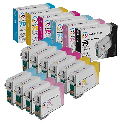 LD Remanufactured Ink Cartridge Replacements for Epson 79 High Yield (2 Cyan, 2 Magenta, 2 Yellow, 2 Light Cyan, 2 Light Magenta, 10-Pack) Maine
