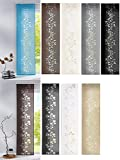 Gardinenbox Moderner Flächenvorhang Schiebegardine aus hochwertigem Ausbrenner-Stoff mit Klettband, Grau Tendril, 1 Stück 245x60 (HxB), 856100 - 5