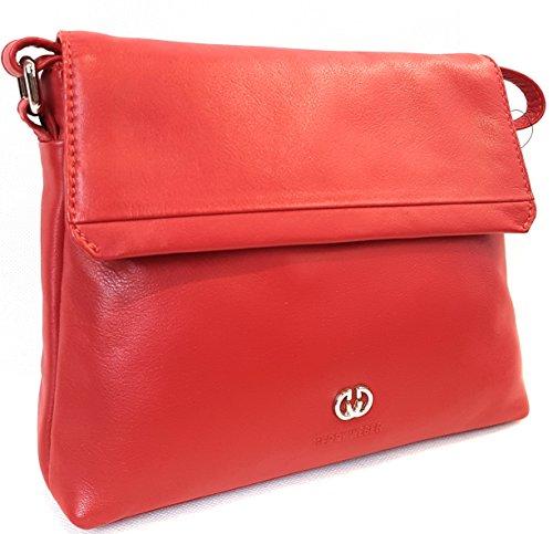 GERRY WEBER Piacenza Flap Bag M, H 4080000681 Damen Umhängetaschen 23 x 18 x 7 cm (B x H x T), Rot (red 300)