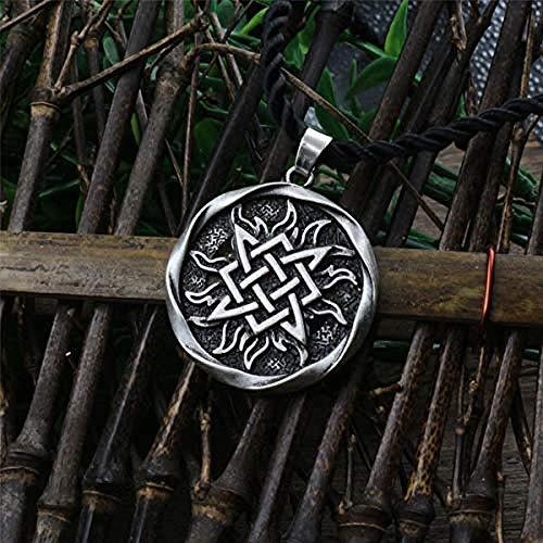 LKLFC Necklace for Women Men 1Pcs Small Square Pendant. Amulet Pendant Ancient Slavic Talisman Pendant Jewelry Pagan Men NecklacePendant Necklace Girls Boys Gift