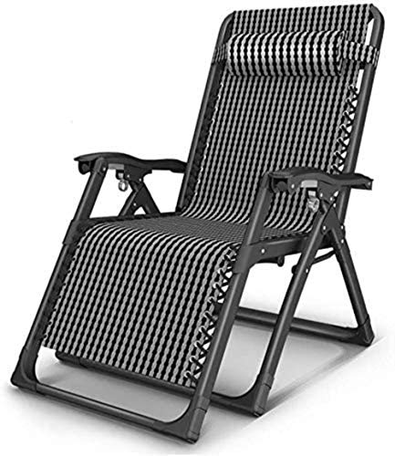 Chairs Sun Lounger Leisure with Pillows Reclining Garden Heavy Duty Recliner Textoline Gravity Relaxer Garden Outdoor Sunlounger Folding Reclining Lounger Deck Color