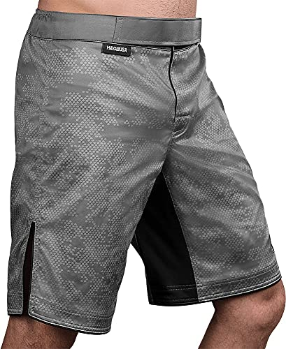 Hayabusa Fight Shorts, Hexagon, grau Größe L