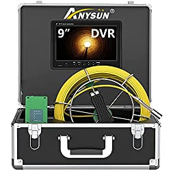 "Anysun 9"" Monitor 100 Ft Sewer Camera"