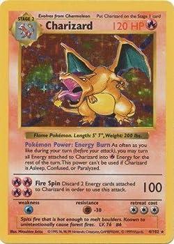 Charizard  4/102  - Basic Pokemon Card - Base - Shadowless - Holo