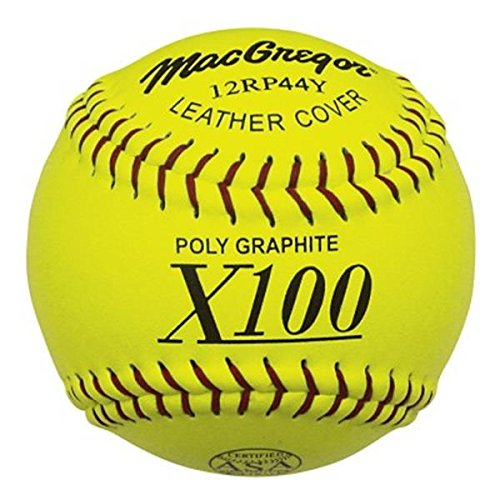 MacGregor X44RP ASA Slow Pitch Softballs, Yellow, 11-inch (One Dozen)