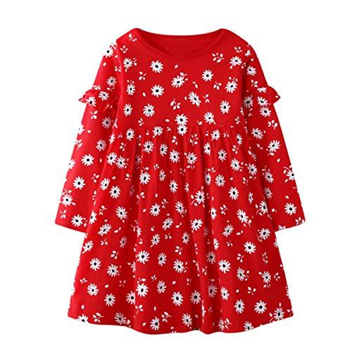 Dziewczęca sukienka, 2-7 lat dziewczęca sukienka z długim rękawem dla dzieci codzienne ubrania dziewczyny bawełniana odzież na co dzień jesienna sukienka