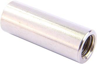 Schroefdraadmoffen M8 X 50 rond, roestvrij staal A2 (5 stuks) - verbindingsmoffen lange moeren afstandhouder afstandmoeren