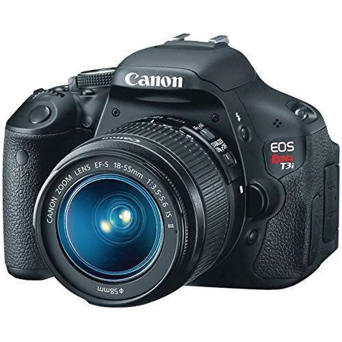 Canon EOS Rebel T3i Digital SLR Camera with EF-S 18-55mm f/3.5-5.6 IS Lens (discontinued by manufacturer) (Renewed)