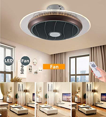 Ljdgr Ventiladores para el Techo con lámpara, 40W Regulable de Control Remoto 3 velocidades Ajustables Dormitorio Velocidad del Viento Moderna Invisible tranquilas del Sitio de niños de la lámpara