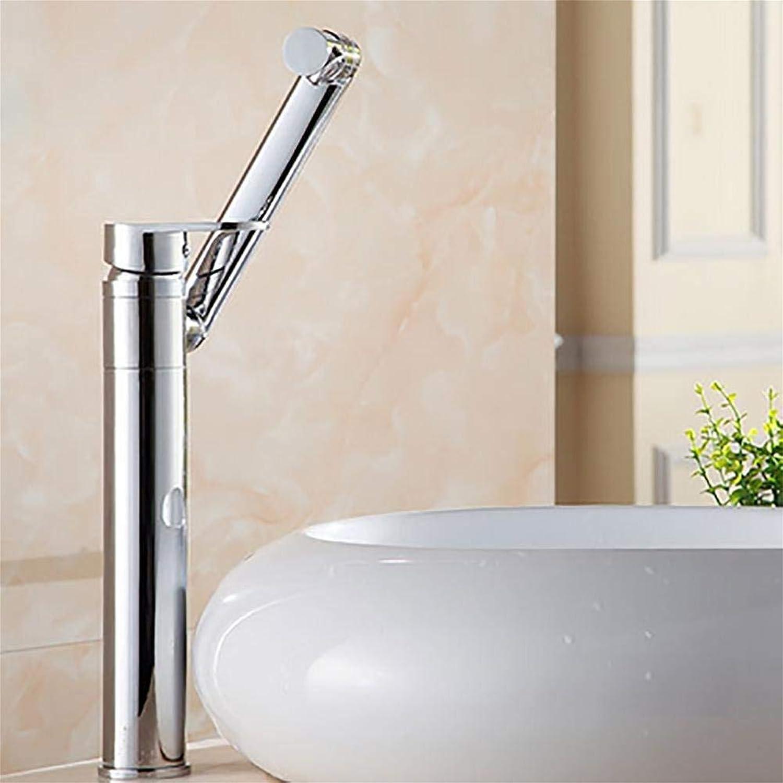 TRNMC Tap Water Tank Faucet Copper Single Handle Single Hole Wash Basin Faucet hot Cold Wash Basin Washbasin, photo color