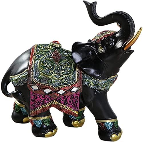Figuras de la estatua de la escultura para el dormitorio del hogar Sala de estar al aire libre decorativo creativo creativo ornamentos de elefante afortunado elefante estatua feng shui riqueza figuril