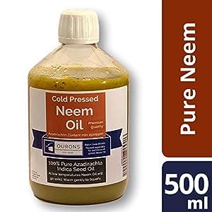 Aceite de Neem Puro - Aceite de semilla de Nim Premium prensado al frío de 500 ml
