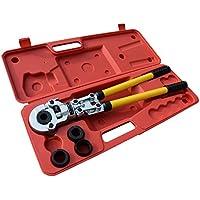 Tenazas de tubo, alicate para tubos PEX PE-X 16 - 32mm Crimping Tool con Calibradores y Resortes de Flexión
