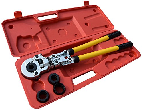 Witss Presszange TH-Kontur Rohrpresszange mit 16-20-25-32mm Pressbacken für Verbundrohr Kupferrohr